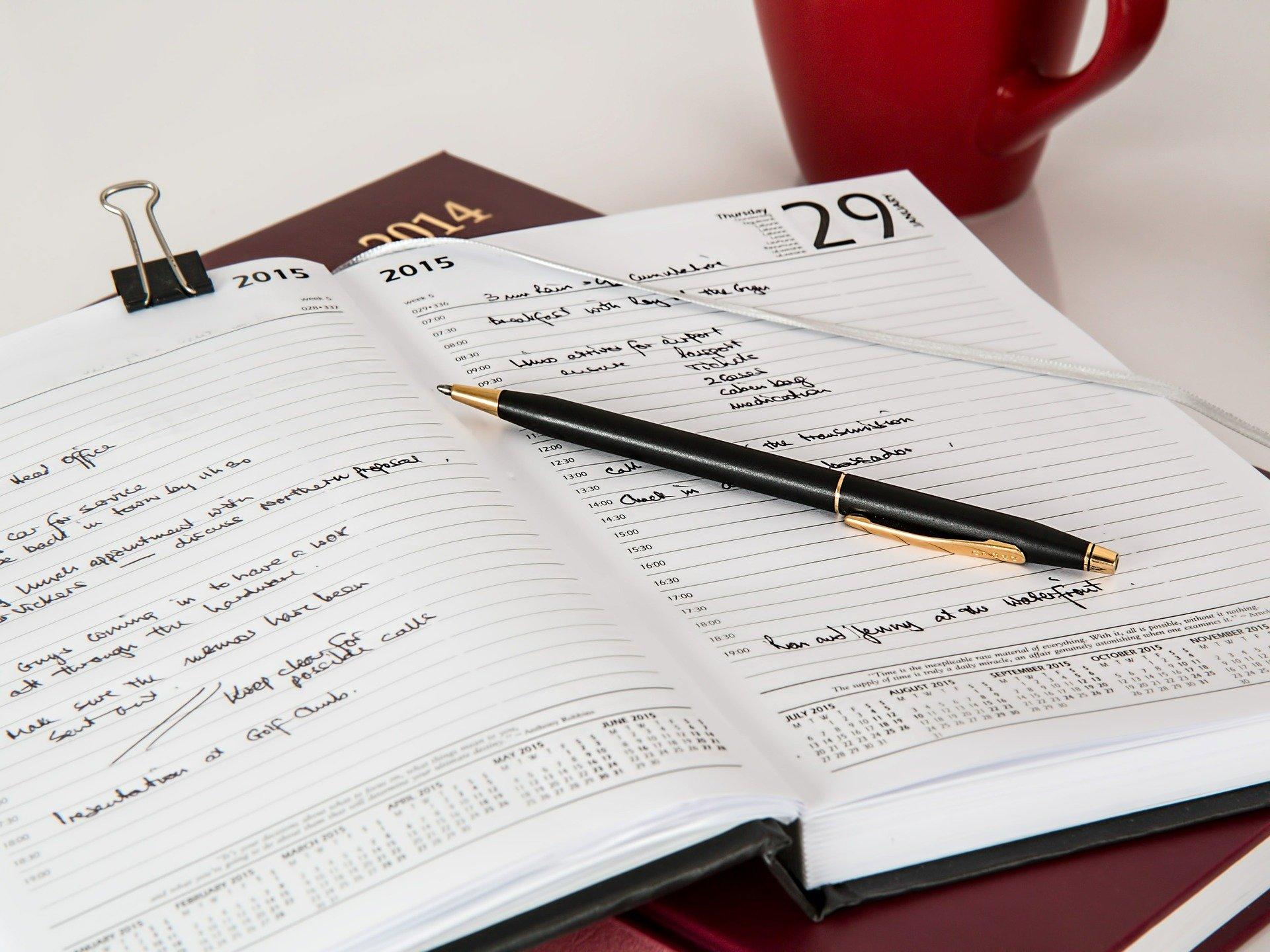 Unser Terminbuch geht online